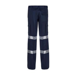 LADIES MID WEIGHT COTTON CARGO WORK PANT WITH BIO-MOTION TAPE