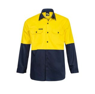 HI VIS L/S COTTON WORK SHIRT