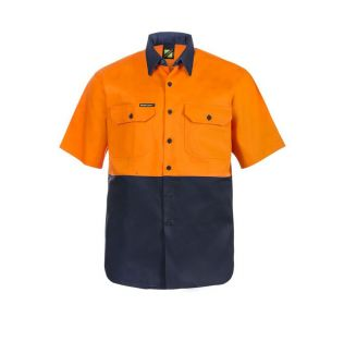 HI VIS S/S COTTON WORK SHIRT
