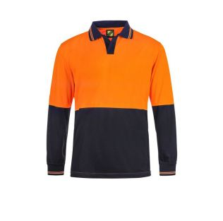 HI VIS FOOD INDUSTRY L/S MICROMESH POLO