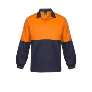 Food Industry Hi Vis L/S Jacshirt With Contrast Collar