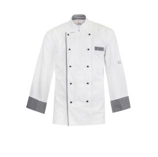 EXECUTIVE L/S CHEFS LIGHTWEIGHT VENTED JACKET WITH CHECKs