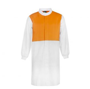 Food Industry Hi Vis L/S Long Dustcoat with Mandarin Collar