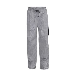 UNISEX CHEFS CHECK DRAWSTRING CARGO PANT