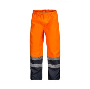 Hi Vis Waterproof Rain Pant with Reflective Tape