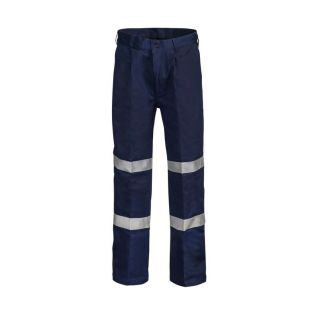 Classic Pleat Cotton Work Pant with Bio-motion Tape