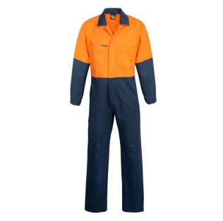 HI VIS TWO TONE COTTON DRILL COVERALLS