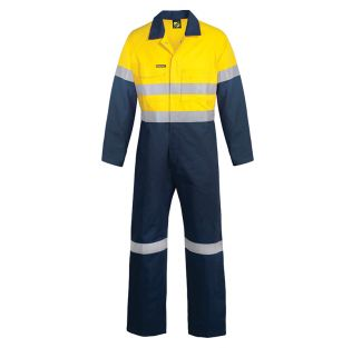 Hi Vis Cotton Coveralls with Reflective Tape