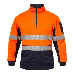 RIDGE Hi Vis Half Zip Pullover With Tape
