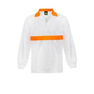 Food Industry L/S Jacshirt with Contrast Collar and Chestband