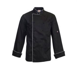 EXECUTIVE L/S CHEFS JACKET WITH PIPING