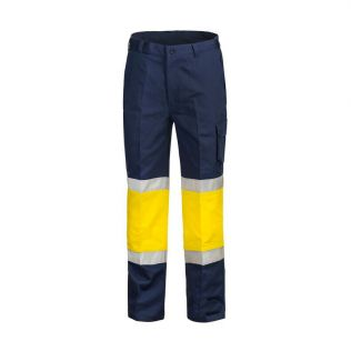 MODERN FIT COTTON CARGO WORK PANT WITH CONTRAST KNEE AND BIO-MOTION TAPE