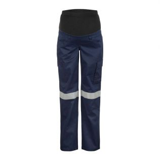 MATERNITY COTTON CARGO WORK PANT WITH REFLECTIVE TAPE