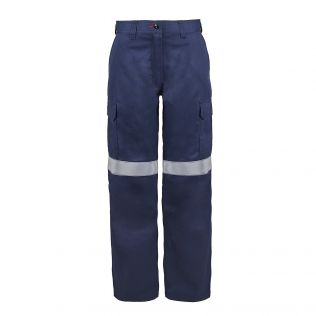 LADIES HRC2 FR CARGO WORK PANT WITH FR REFLECTIVE TAPE