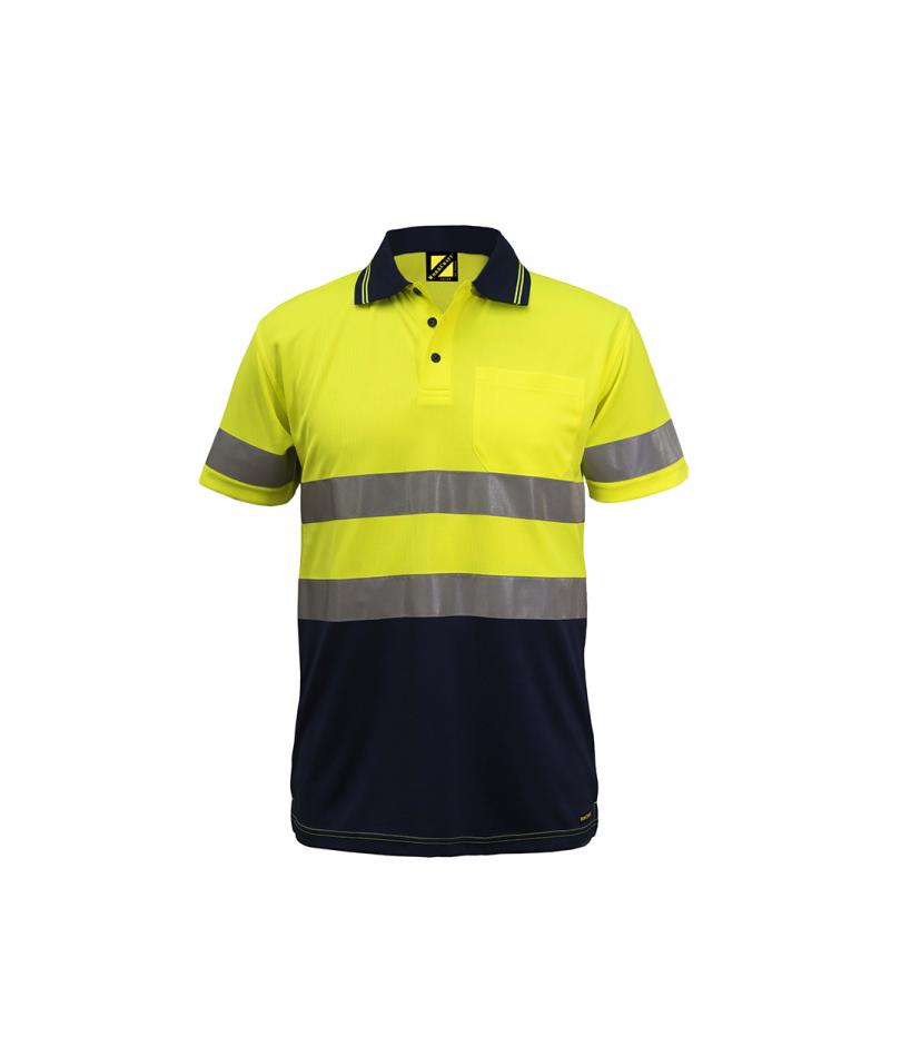 Hi Vis S/S Micromesh Polo with Pocket and Reflective Tape